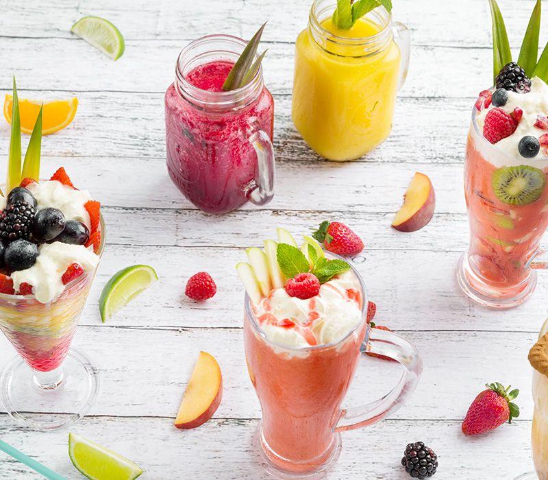 Menu: Cocktails Juices